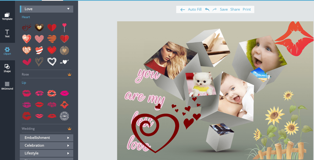 ClipArt Photo Collages