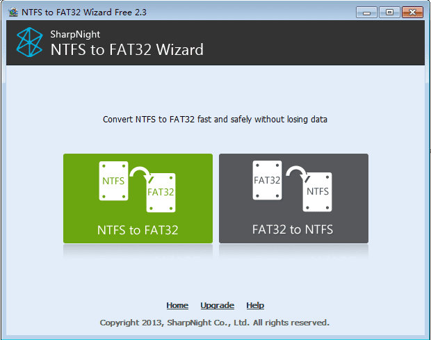 NTFS to FAT32 Wizard