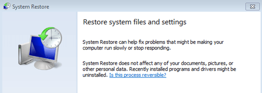Restore System Files