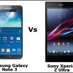 Samsung Galaxy Note 3 Vs Sony Xperia Tablet Z Ultra